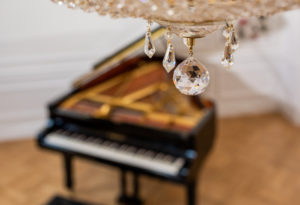 Crystal Chandelier Detail